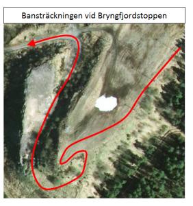 Solstaloppet XC MTB - Brungfjordstoppen satelitfoto